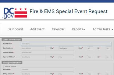 DC Fire & Emergency Medical Services - Special Events