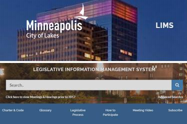 City of Minneapolis Legislative Information Management System