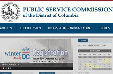 DC Public Service Commission Website Redesign