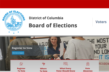 DC Board of Elections Website Redesign